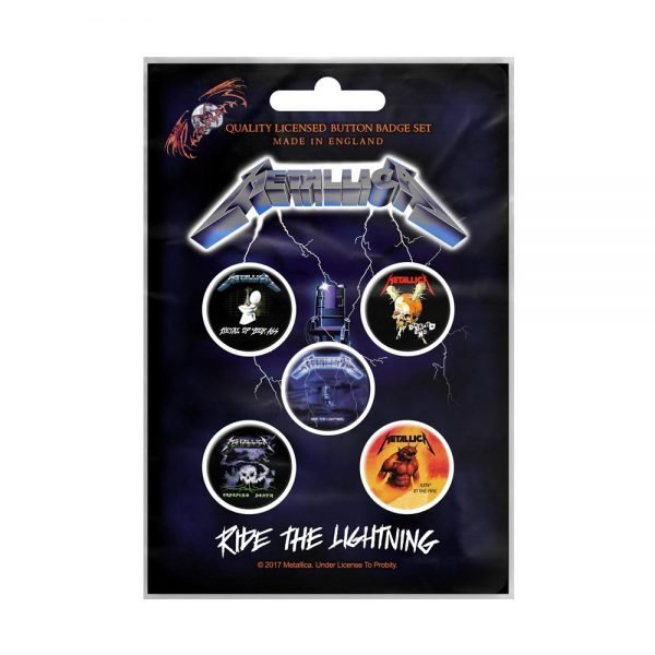 Metallica - Ride The Lightning Packed Button Badge